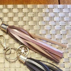 Tassle Keychain / Bag Charm - Metallic Pink